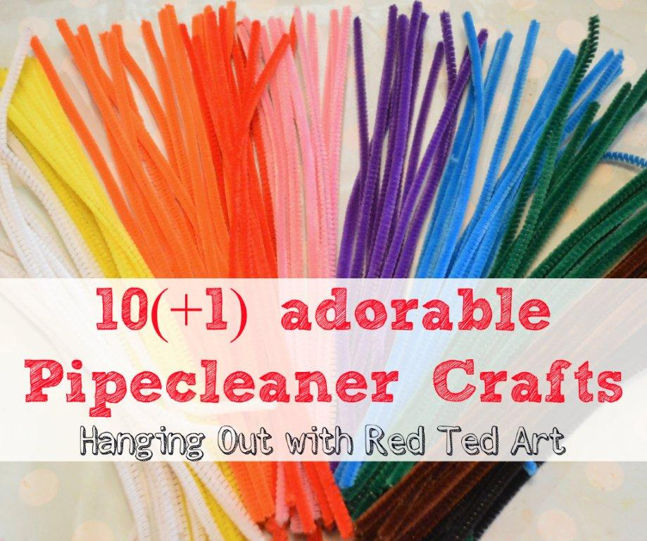 Pipecleaner Craft Ideas Red Ted Art