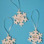 Puzzle Pieces Crafts: Snowflakes