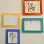 Storing Kids Art in DIY Box Picture Frames