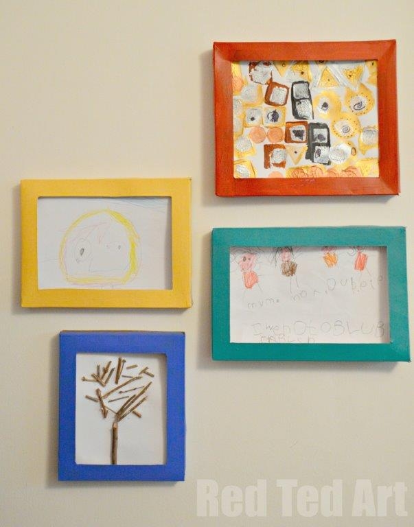 Cereal Box Picture Frames Red Ted Art