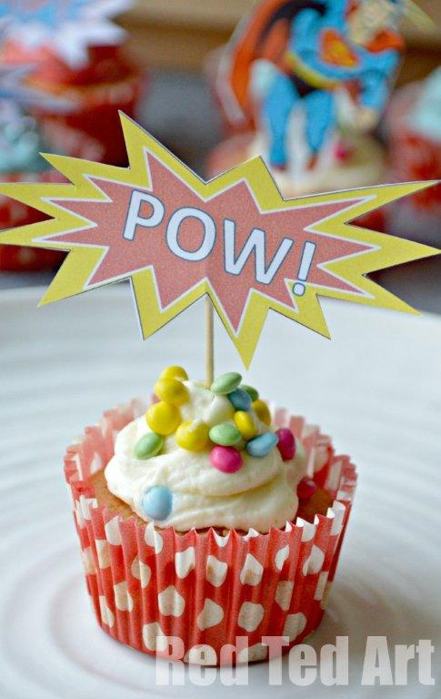 Superhero Cupcake Topper (Printable)