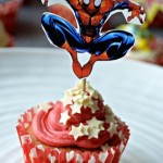 Superhero Cupcake Toppers - Spiderman
