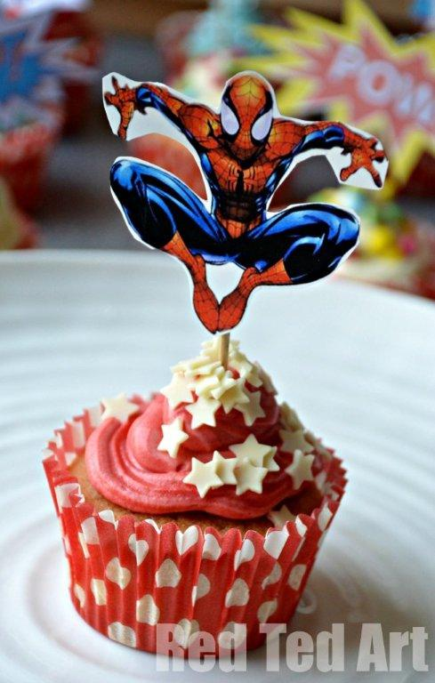 Superhero Cupcake Toppers – Spiderman