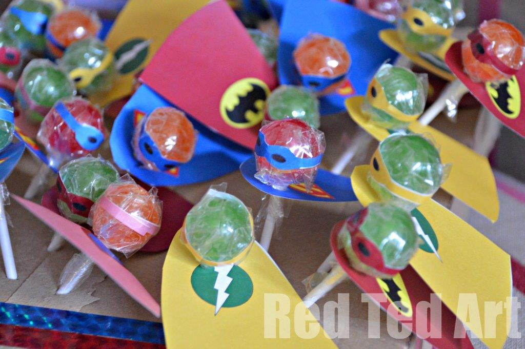 Superhero Lollipops – Copy