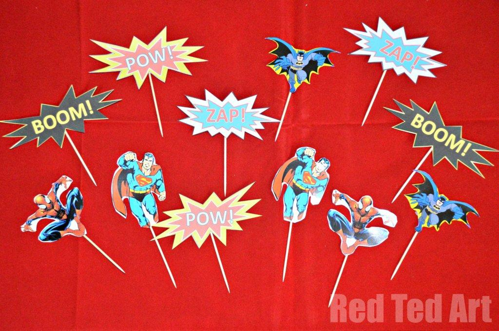 superhero cupcake cut outs
