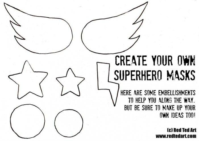 Superhero Masks (+ Template) - Party Activity