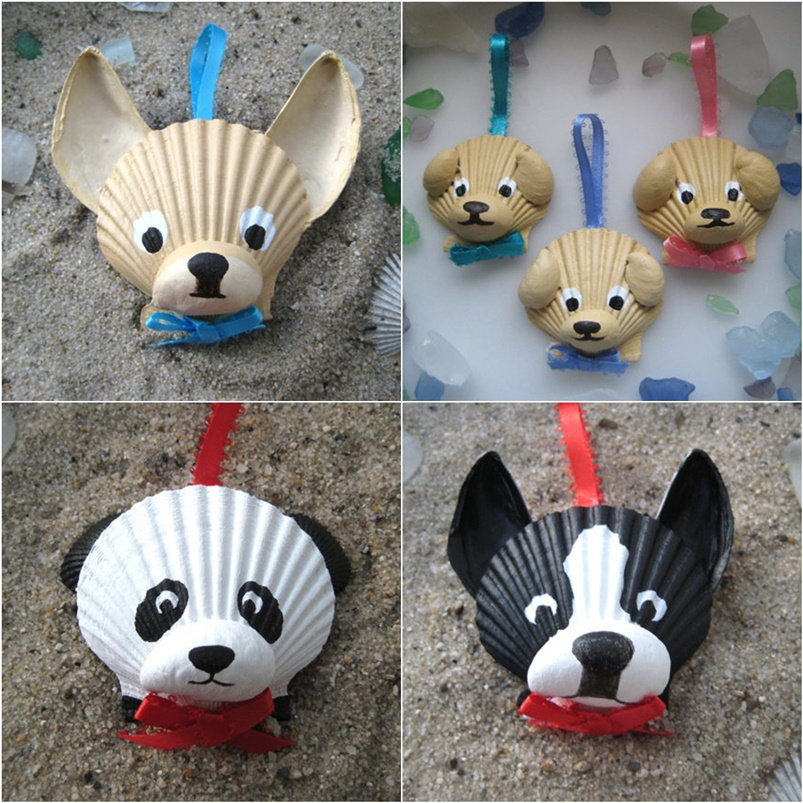 Adorable Seashell Craft Ideas Animal Ornaments