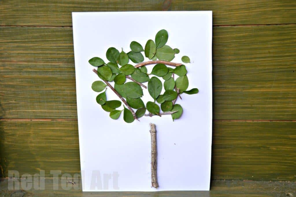Four Seasons Crafts. Nature crafts for toddlers this Summer! A great Summer Four Seasons Tree Arts and Crafts project for Preschool exploring the four seasons. Love this nature art project. So easy and fun #nature #seasons #summer #trees #preschoolers