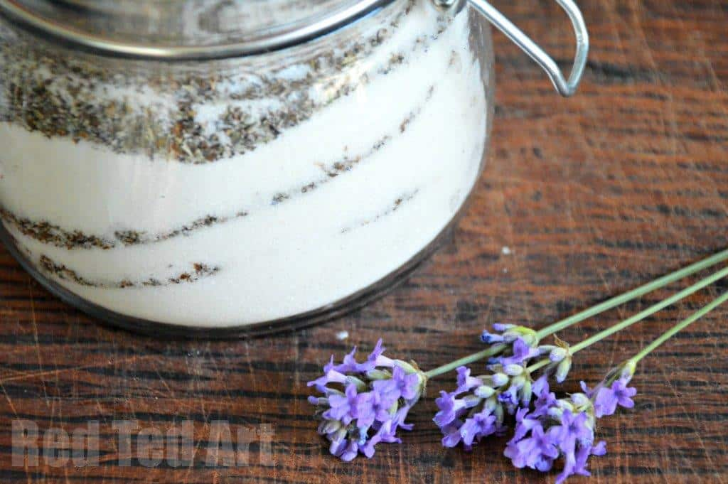 How to make Lavender Sugar with kids