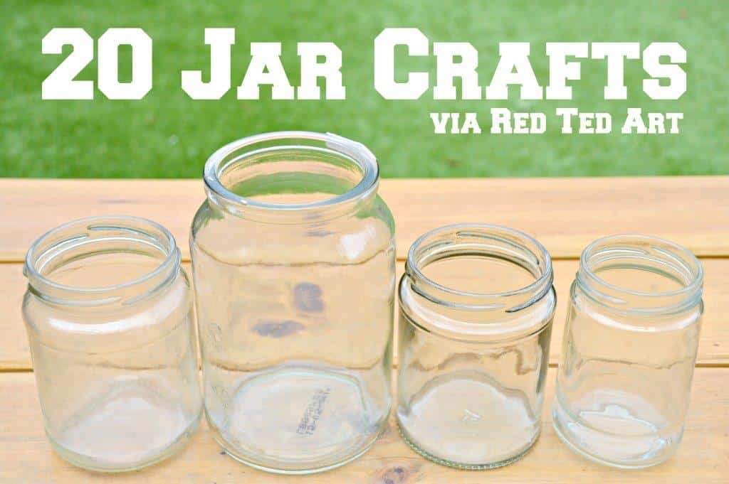 Mason Jar Crafts Red Ted Art