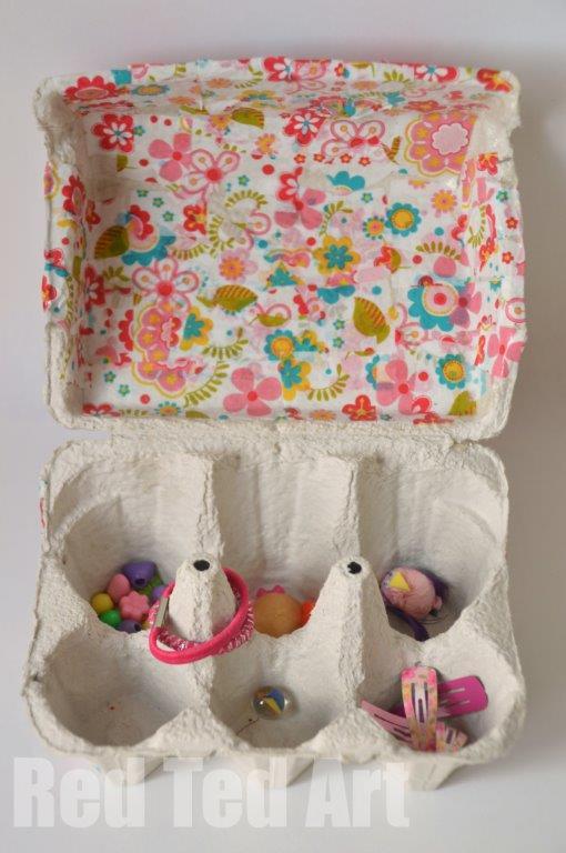 Egg Carton Crafts Treasure Box