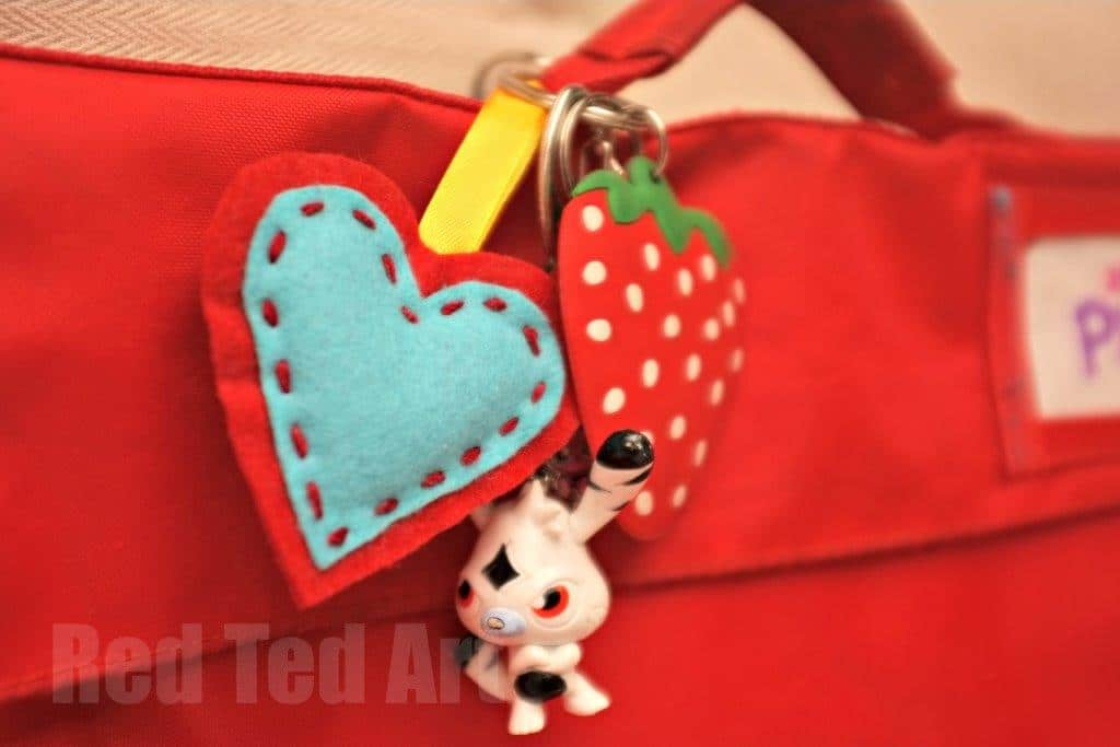Back to School Craft - cute felt heart ornament