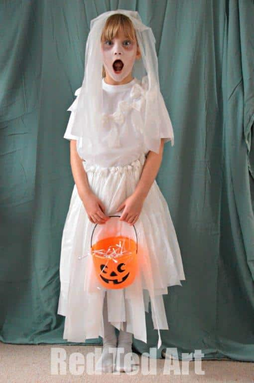 Halloween bride costumes kids can make red ted art 39 s blog for Halloween costume ideas for 12 year olds