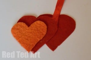 Felt Heart Craft for Kids