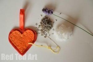 Felt Heart Lavender