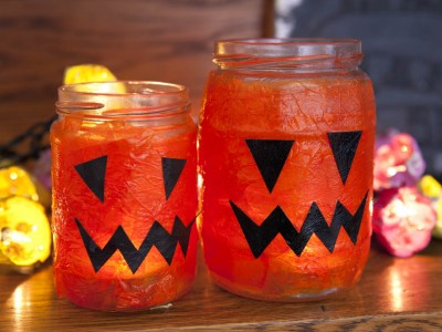 Quick Craft Post: Halloween Lanterns (vlog)