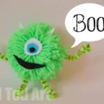 Monsters Inc Craft: Mike Pom Pom