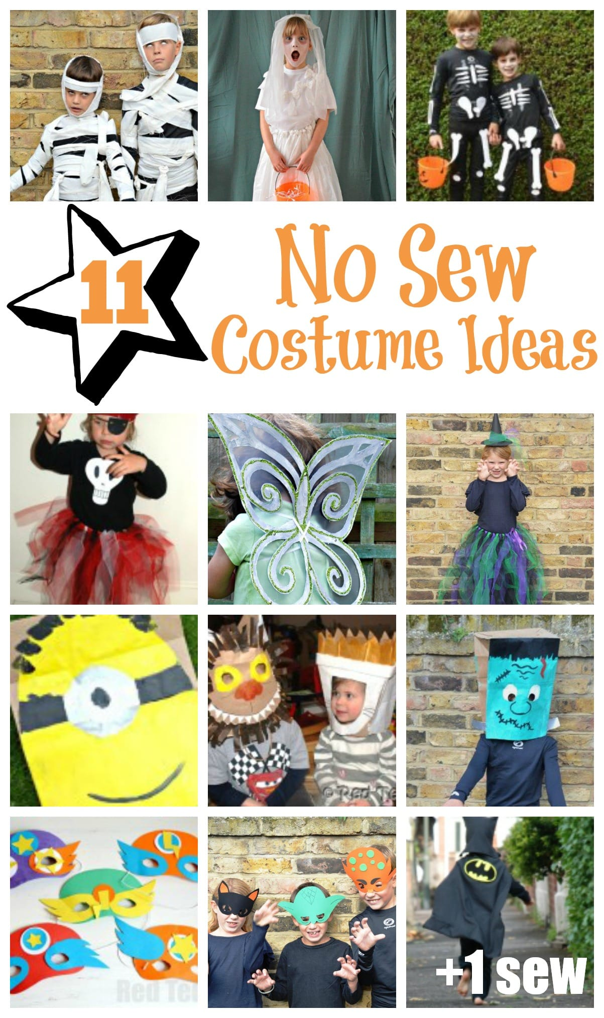 10+1 No Sew Costume Craft Ideas