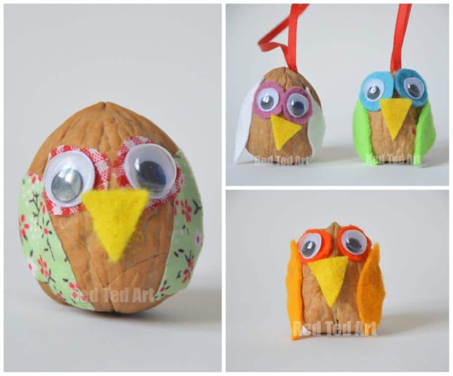 Walnut Owls Craft idea