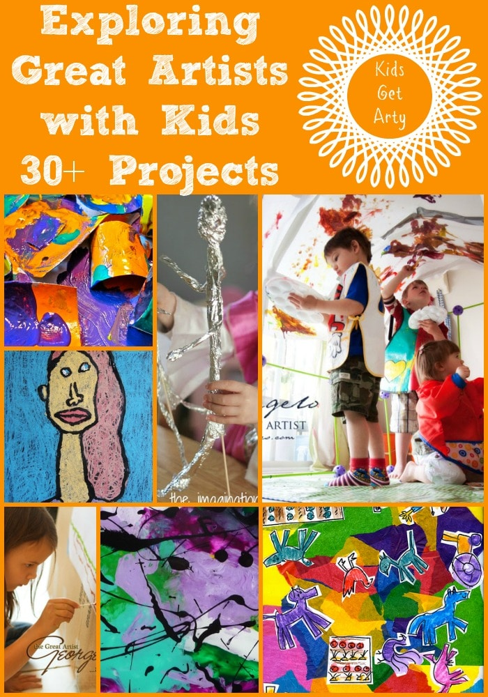 30 Art Projects For Kids Looking At The Great Artists