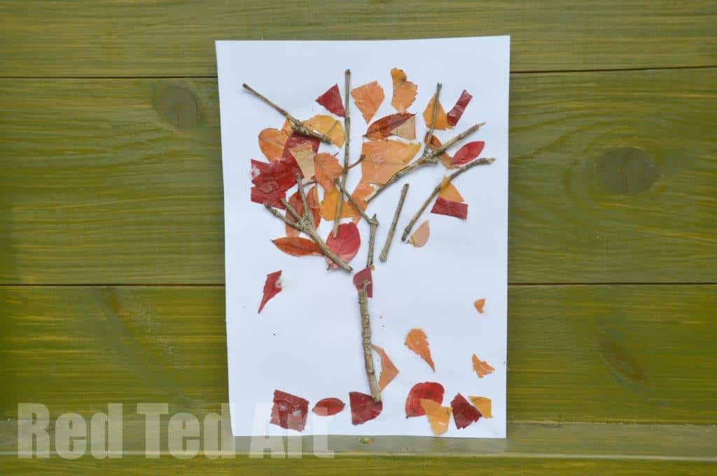 four seasons crafts autumn nature tree red ted art s blog