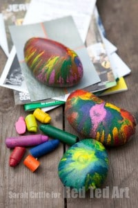 Crayon Rocks Gifts for Kids To Make