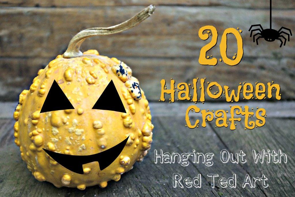 halloween crafts ideas hangout red ted arts blog - Halloween Crafts For Adults