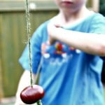 Playing conkers for kids