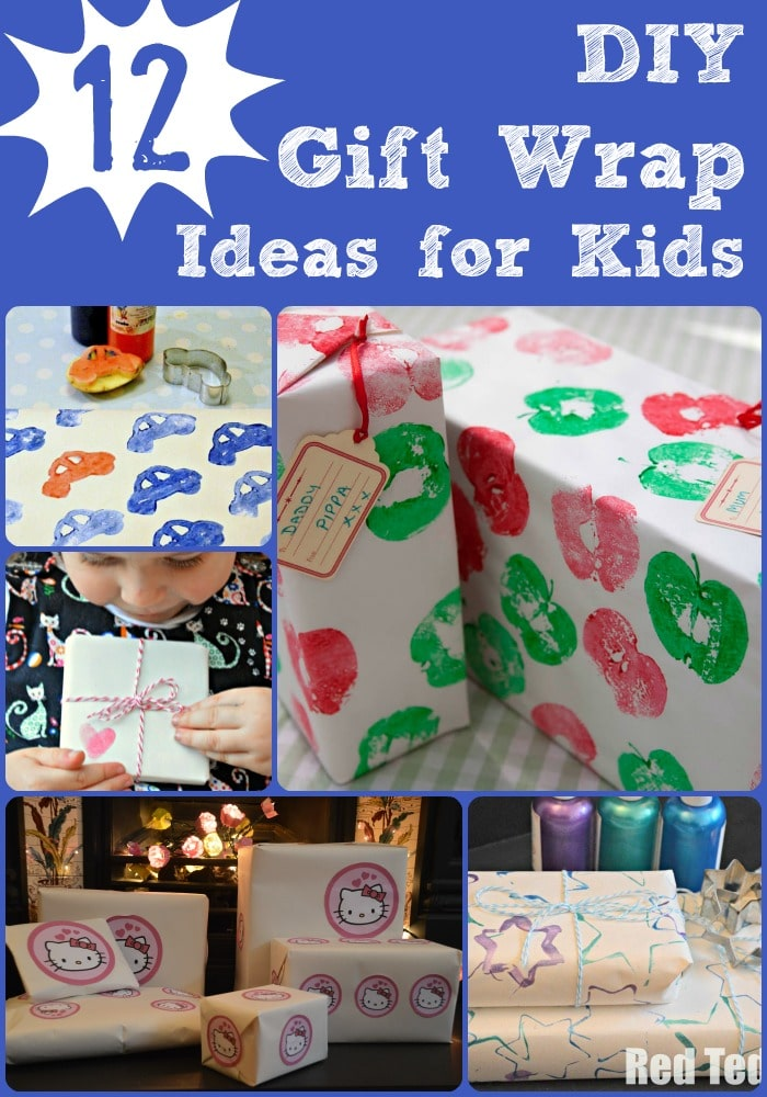 Diy Wrapping Paper Ideas Red Ted Art