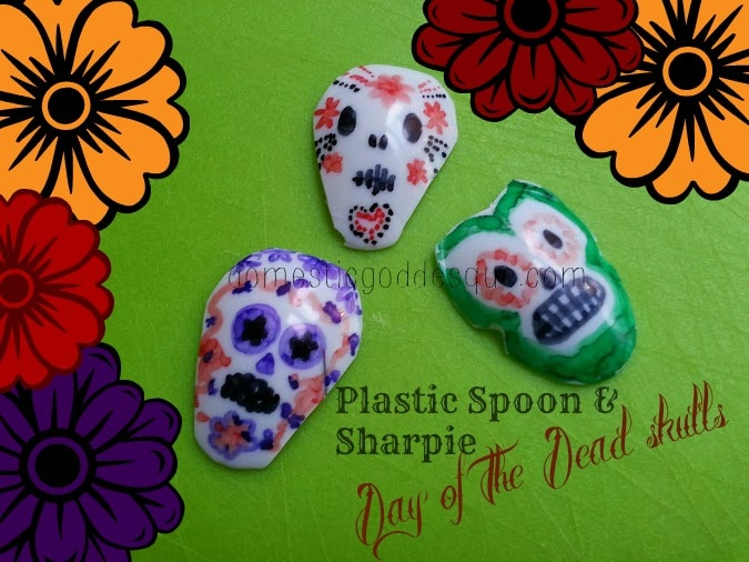 Sharpie spoon day of the dead craft red ted art 39 s blog for Day of the dead arts and crafts