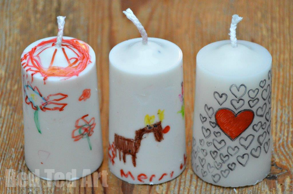 Gifts Kids Can Make - Decrated Candles