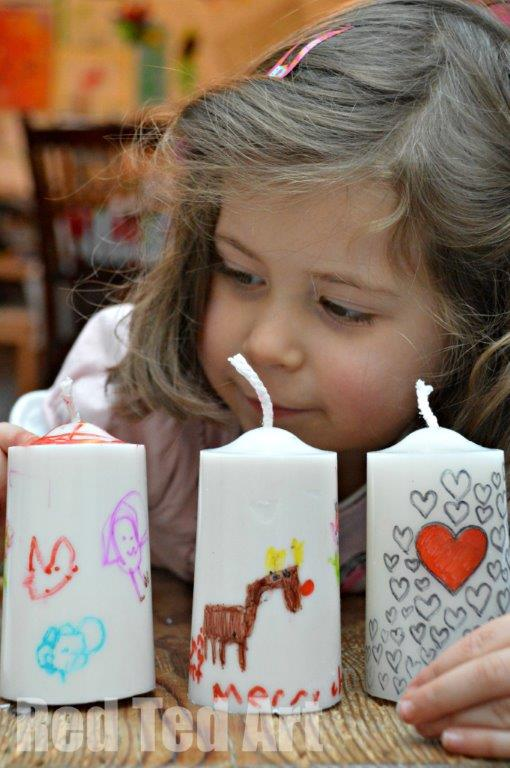 Art Candles for Kids to make