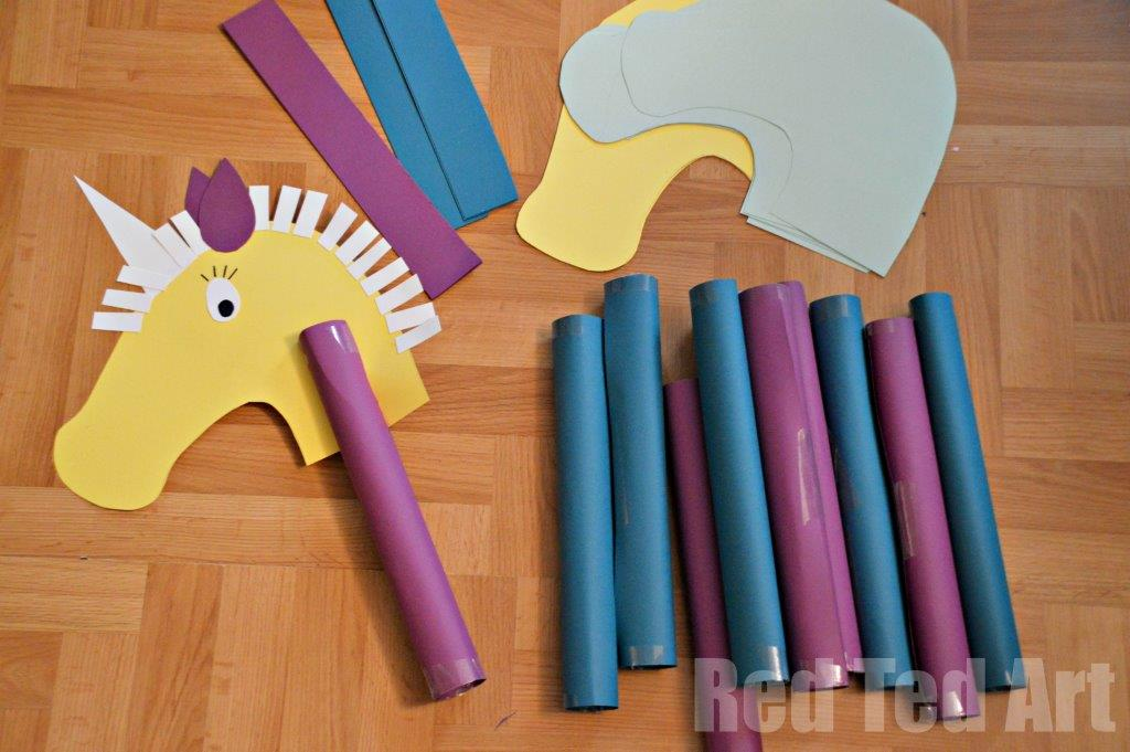 Hobby Horse Craft Idea For Kids Red Ted Arts Blog