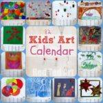 Kids Art Calendar - Gifts That Kids Can Make