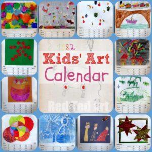 Kids Art Calendar - Gifts That Kids Can Make