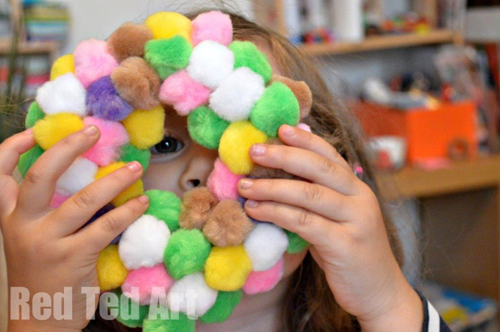 PomPom Wreath for Kids