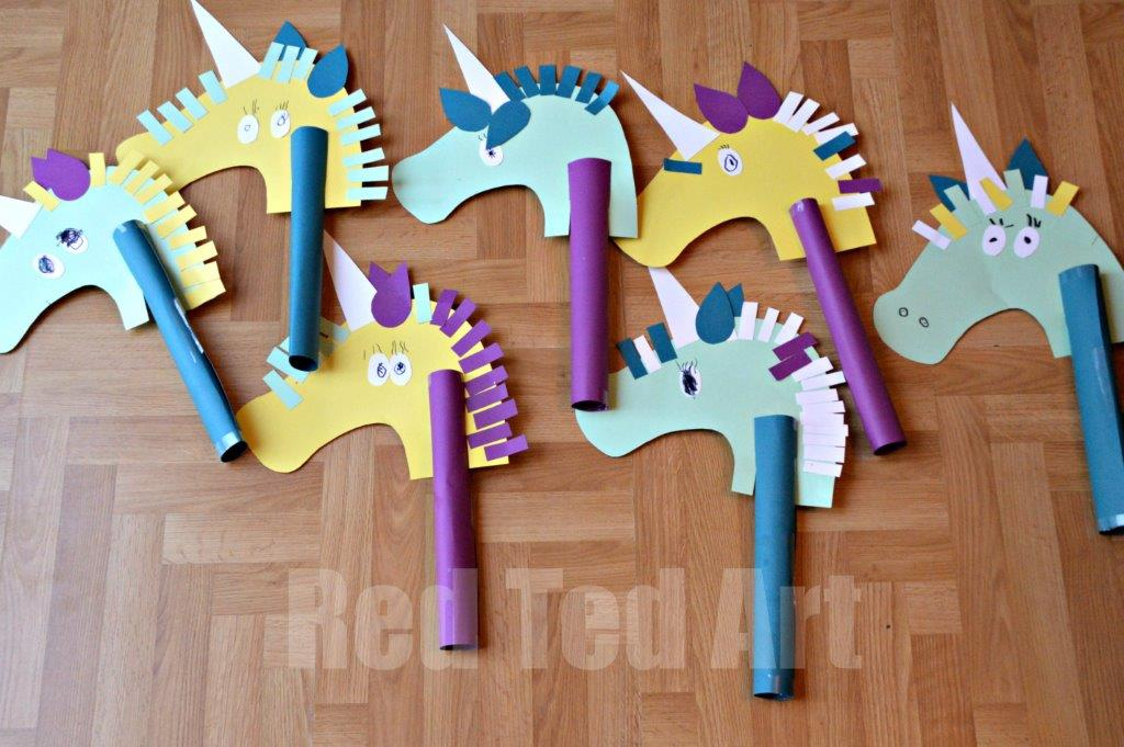 Unicorn hobby horse craft red ted art 39 s blog for Crafts and hobbies ideas