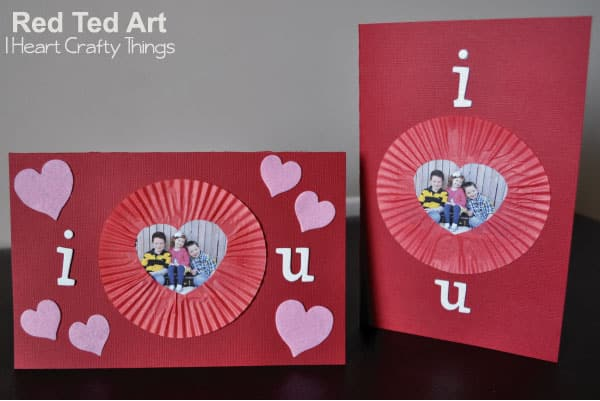 Valentine's Cards for Kids: Cupcake Liner Frames