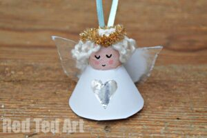 Diy Angel Ornaments Red Ted Art
