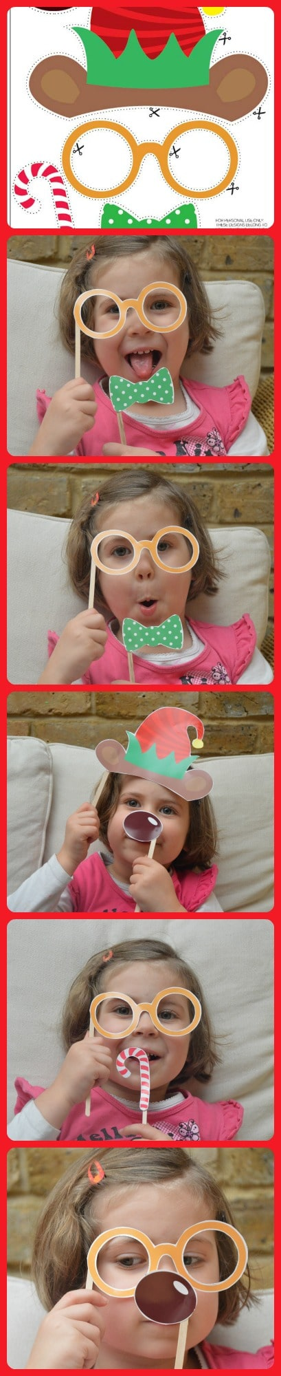 Free Christmas Photo Prop Printables