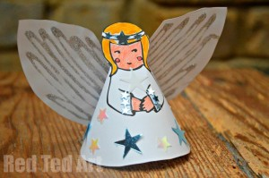 HOw to make a paper angel ornament for christmas printable