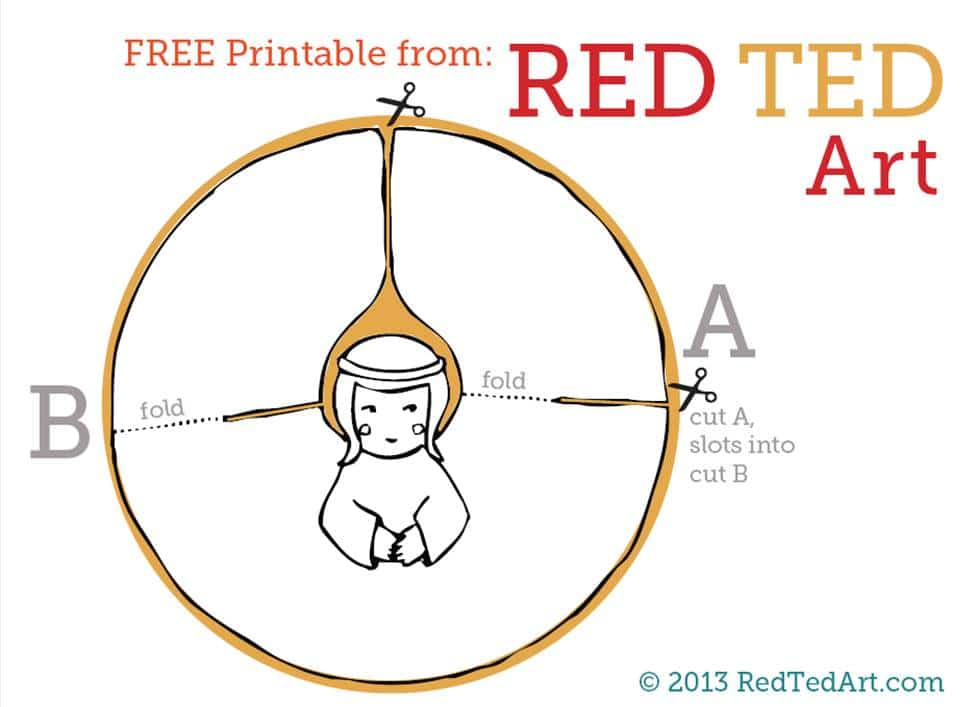 Paper angel printable red ted art 39 s blog for Angel tree decoration template