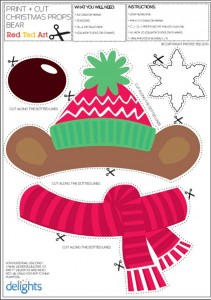 graphic about Christmas Photo Props Printable known as Xmas Picture Props Printables (Totally free!) - Pink Ted Artwork