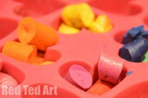 Recycled Crayons Valentine's Gift