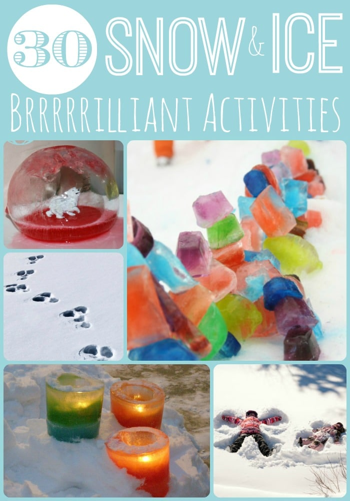 Snow Activities for Kids - start planning for that cold weather.. BRRRRILLIANT