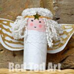 Toilet Paper Roll Angel Craft for Kids