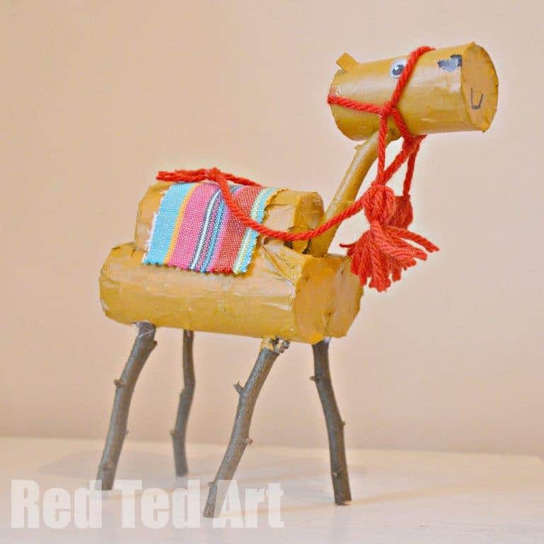 Toilet Roll Camel Christmas Craft