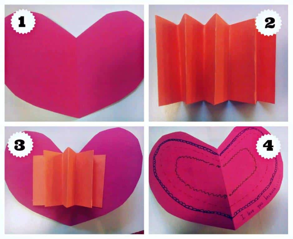 Valentines Cards for Kids Pop Up Card Red Ted Arts Blog – How to Make Valentines Cards