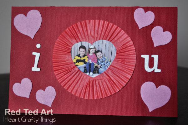 Valentines Cards for Kids Cupcake Liner Frames Red Ted Arts Blog – Valentine Cards Preschool