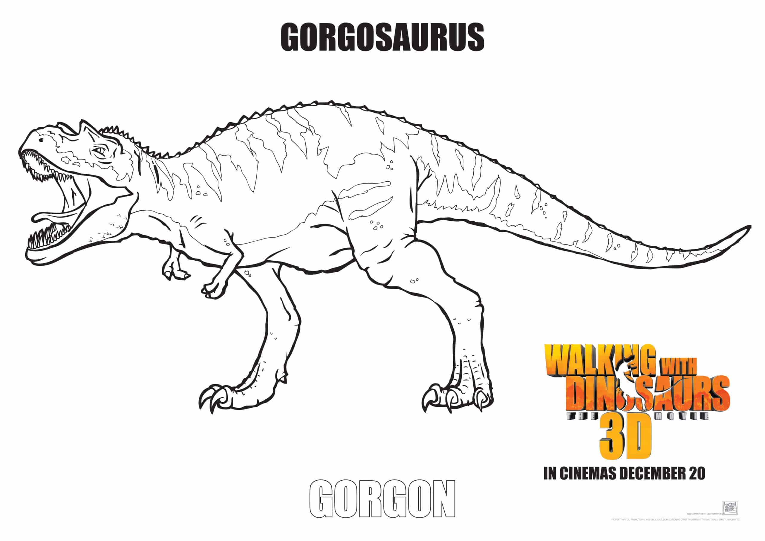 Colouring pages dinosaurs - Dinosaur Colouring In Picture Download Walking With Dinosaurs Gorgon